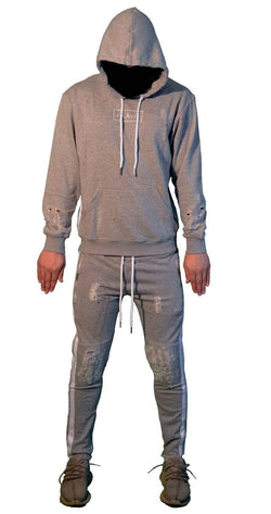 Stealth London Clothing Co Small (Slim Fit) t Mode Zero Tracksuit (Distressed Grey)
