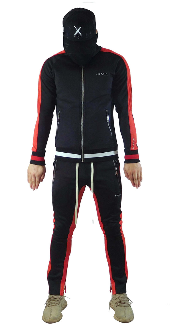 Stealth London Clothing Co Small Vectran Tracksuit Black/Red)