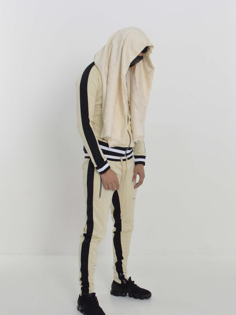 Stealth London Clothing Co Small Vectran Tracksuit (Cream/Black)