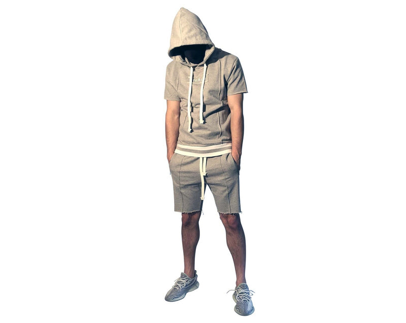 Stealth London Clothing Co Xtra Small Hiroshi Shorts set (Grey)