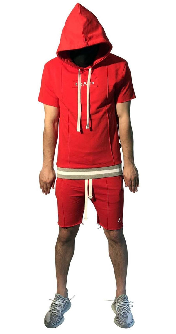 Stealth London Clothing Co Xtra Small Hiroshi Shorts Set (Red)