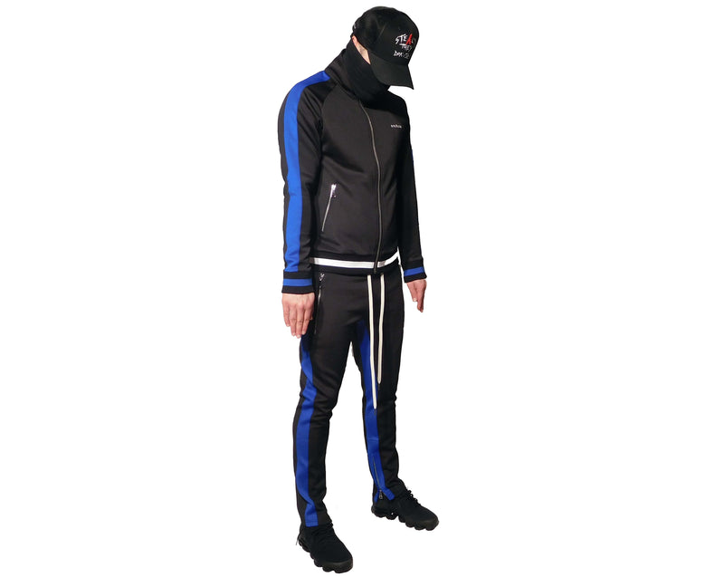 Stealth London Clothing Co Xtra Small Vectran Tracksuit (Black Stealth Blue)