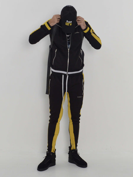 the best detailing fashion styles Vulcan Tracksuit (Black yellow)
