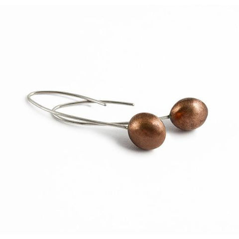 recycled copper earrings
