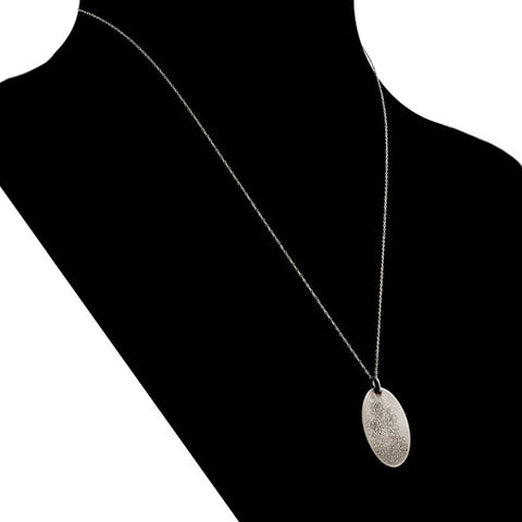 oval etched necklace