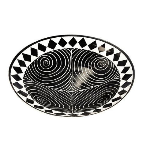 modern black and white bowl
