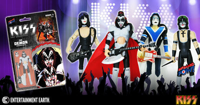 KISS - Unmasked 3 3/4-Inch Series 1 Complete Set of 4 Action Figures