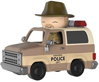 Funko Stranger Things Dorbz Ridez Hopper with Sheriff Deputy Truck Vinyl Collectible