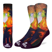 Jimi Hendrix Rocking Space Socks by Good Luck Sock