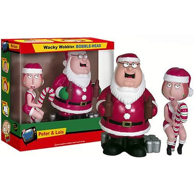 Family Guy - Peter & Lois Christmas Wacky Wobbler Bobblehead Set by Funko