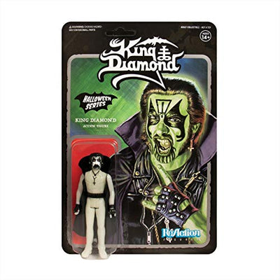 "King Diamond - Mercyful Fate Glow in The Dark 3 3/4"" Reaction Figure by Super 7"