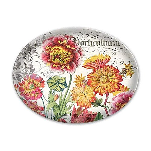 Michel Design Works Blooms & Bees Glass Soap Dish