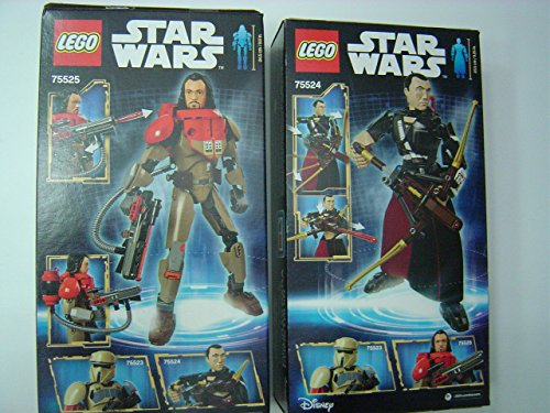 LEGO Constraction Star Wars Chirrut Imwe 75524 / Baze Malbus 75525 Buildable Figures 2 Set Bundle