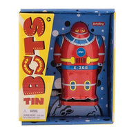 Wind Up Tin Robot - Only one is included - Available in Red, Blue or Green