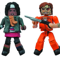 DIAMOND SELECT TOYS Walking Dead Minimates Prison Outbreak, 4-Pack (Amazon Exclusive)
