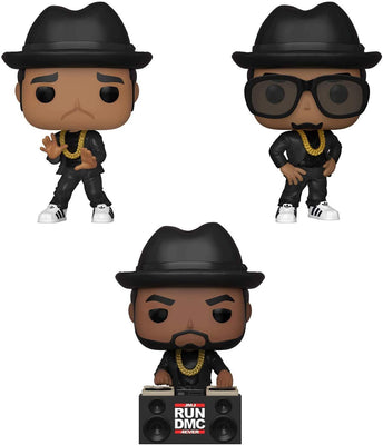 RUN DMC - Set of 3 individually boxed Funko Pop! Vinyl Figures