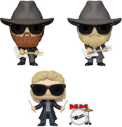 ZZ Top - Set of 3 individually boxed Funko Pop! Vinyl Figures