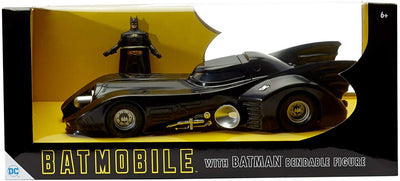 Batman - Batmobile 1989 with Michael Keaton Batman 3 3/4-Inch Bendable Figure