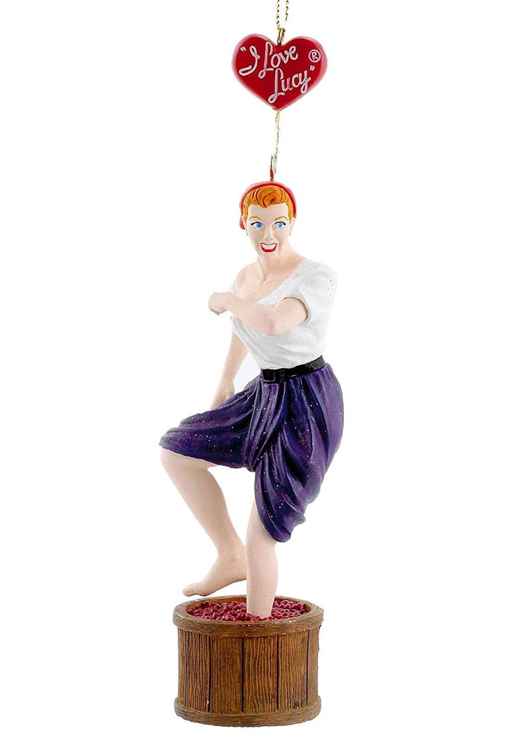 "5"" ""I LOVE LUCY"" STOMPING WINE GRAPES ORNAMENT by Kurt Adler"