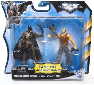 Batman The Dark Knight Rises-  Caped Crusader Batman Vs. Final Assault Bane Action Figure 2 Pack Set by Mattel