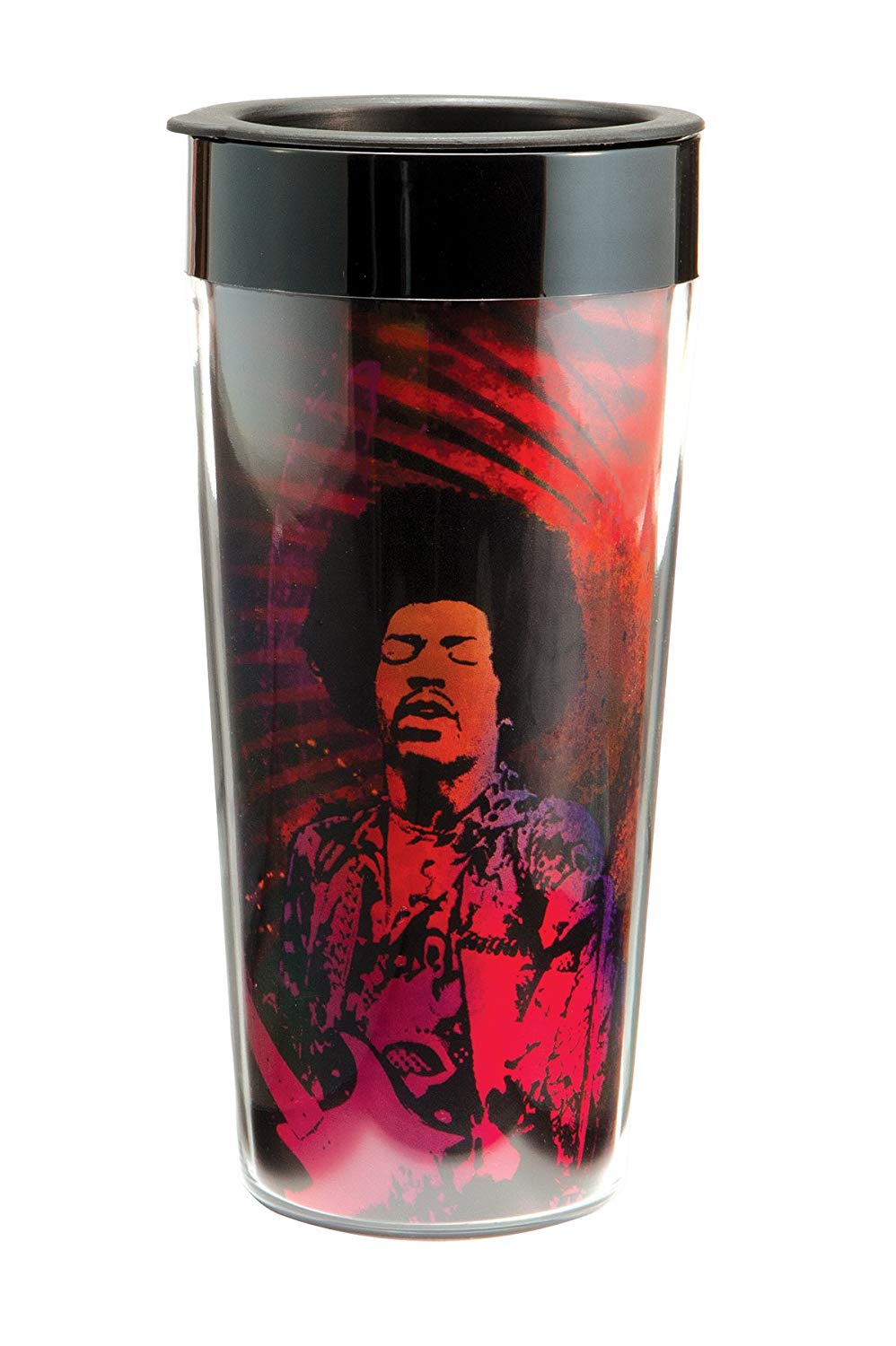 Vandor 34151 Jimi Hendrix Plastic Travel Mug, Multicolored, 16-Ounce