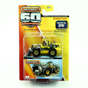 Matchbox 60th Anniversary Superfast Quarry King Tractor Construction Bulldozer Wheel Loader Yellow