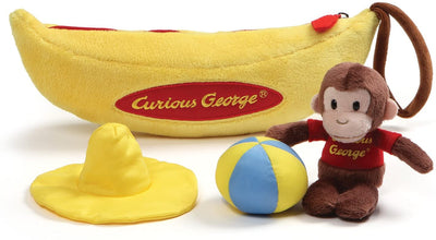 Curious George - with Banana Playset  Plush by Gund