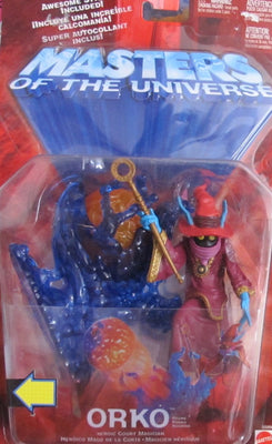 MOTU Masters of The Universe ORKO Heroic 'COURT MAGICIAN' Figure w STAND,