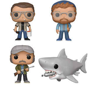 "Funko Movies: Pop! Jaws Collectors Set - Chief Brody, Matt Hooper, Quint, 6"" Jaws with Diving Tank"