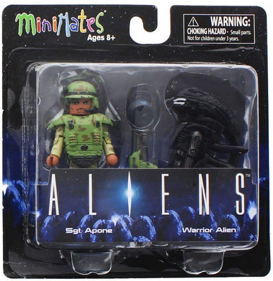 Aliens - Series 1 Sgt Apone & Warrior Alien 2-pack Minimates by Diamond Select