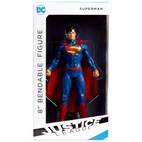 NJ Croce Superman Bendable Figure, Multicolor, 8""