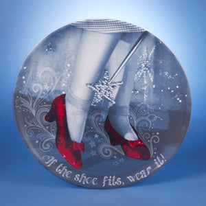 "Pack of 6 Wizard of Oz ""If the Shoe Fits, Wear It"" Ruby Slippers Wall Decor/Serving Trays 14"""