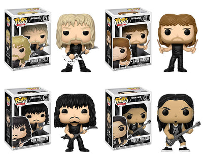 Funko Music POP! Metallica James Hetfield Lars Ulrich Kirk Hammett Robert Trujillo Collectible Set