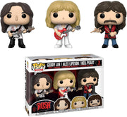 RUSH Band - Set of 3  Boxed Funko Pop! Vinyl Figures
