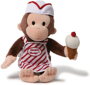 "Curious George - with ICE CREAM 13""  Plush by Gund"