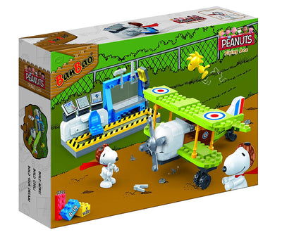 Peanuts - Flying Ace  Green Plane Building Set by Ban Bao