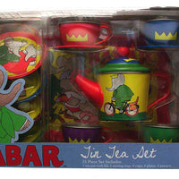 Schylling BABAR The Elephant TIN TEA SET