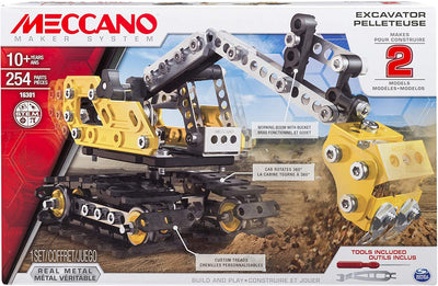 ERECTOR - Excavator and Bulldozer 2 in 1 Building set by Meccano