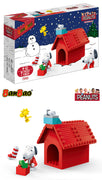 Peanuts - Snoopy & Woodstock Christmas Doghouse Building Set by Ban Bao