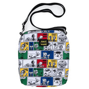 Peanuts - Comic Strip Nylon Passport Bag by Loungefly