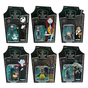 Nightmare Before Christmas - Set of 6 pieces ReAction 3 3/4-Inch Retro Action Figures by Super 7