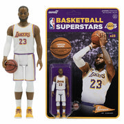"NBA - Lebron James Lakers (White Jersey) Reaction 3 3/4"" Action Figure by Super 7"