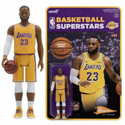 "NBA - Lebron James Lakers (Yellow Jersey) Reaction 3 3/4"" Action Figure by Super 7"