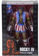 "Rocky IV - Apollo Creed 40th anniversary Uncle Sam Hat & Coat  7"" Action Figure by NECA"