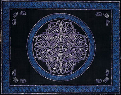 Blue Purple Black Celtic Knot Tapestry-King & Queen Size