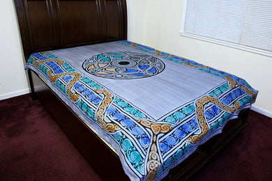 Blue Green Celtic Knot Tapestry
