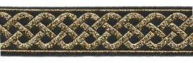 "Narrow Celtic Knot Sewing Trim - 10 yards 7/8"" Fabric Trim"