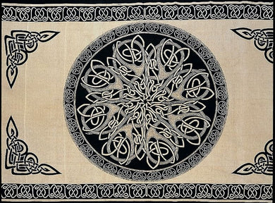 Beige Druids Keep Celtic Knot Tapestry