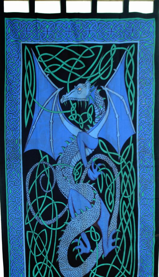 Celtic Dragon Curtain