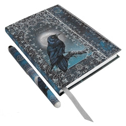Raven Book of Shadows Embossed Journal & Pen